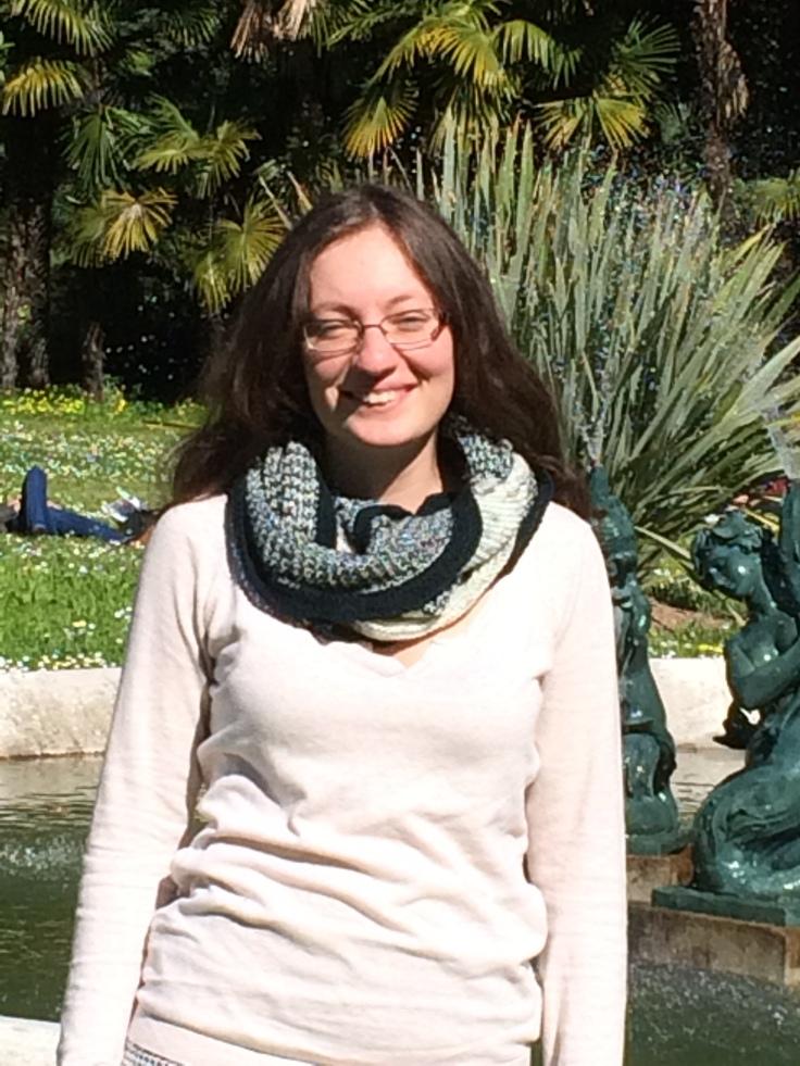 châle tricoté Fille d'hiver