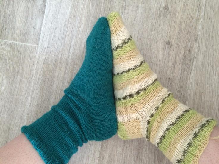 chaussettes tricotées main